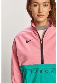 Różowa kurtka Nike Sportswear na co dzień, krótka