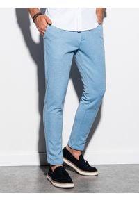 Niebieskie spodnie Ombre Clothing eleganckie
