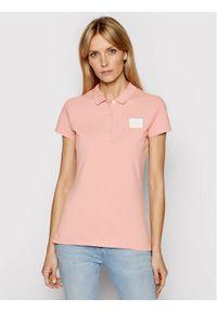 Różowa koszulka polo TOMMY HILFIGER polo