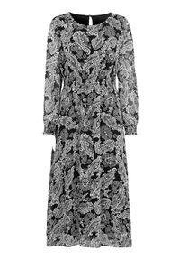 Czarna długa sukienka Cellbes z długim rękawem