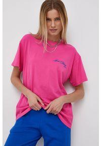 Local Heroes - T-shirt bawełniany. Kolor: różowy. Materiał: bawełna. Wzór: nadruk