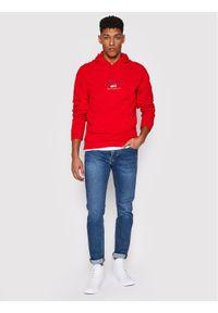 Tommy Jeans Bluza DM0DM10208 Czerwony Regular Fit. Kolor: czerwony