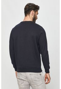Niebieska bluza nierozpinana Pepe Jeans bez kaptura, na co dzień, z nadrukiem