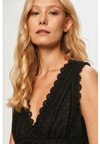 Czarna sukienka Haily's mini, bez rękawów, rozkloszowana
