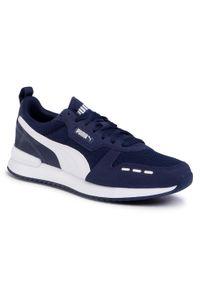 Niebieskie buty sportowe Puma na co dzień, z cholewką