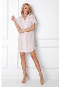 Różowa piżama Aruelle krótka