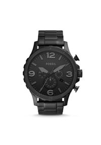 Fossil - Zegarek FOSSIL - Nate JR1401 Black/Black. Kolor: czarny. Materiał: materiał. Styl: biznesowy, vintage