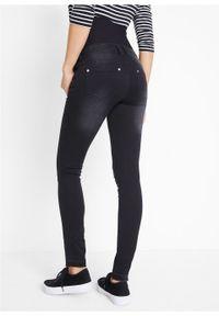 Czarne jeansy bonprix na co dzień, casualowe, moda ciążowa
