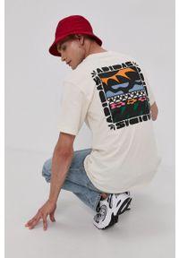 adidas Originals - T-shirt bawełniany. Okazja: na co dzień. Kolor: beżowy. Materiał: bawełna. Wzór: nadruk. Styl: casual