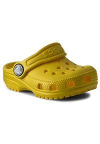 Żółte klapki Crocs