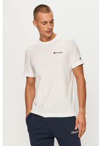 Champion - T-shirt. Okazja: na co dzień. Kolor: biały. Materiał: dzianina. Wzór: gładki. Styl: casual