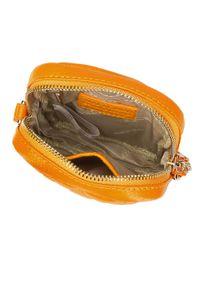 Wittchen - Torebka z pikowanej skóry pionowa. Kolor: żółty. Wzór: haft, gładki. Dodatki: z haftem. Materiał: skórzane. Rozmiar: małe. Styl: casual. Rodzaj torebki: na ramię