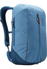Niebieski plecak na laptopa THULE w kolorowe wzory