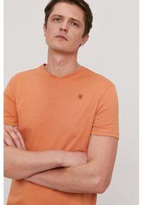 G-Star RAW - G-Star Raw - T-shirt. Okazja: na co dzień. Kolor: pomarańczowy. Materiał: dzianina. Wzór: gładki. Styl: casual