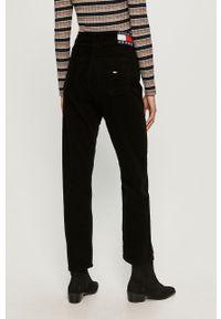 Czarne spodnie materiałowe Tommy Jeans na co dzień, casualowe