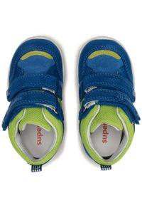 Superfit - Trzewiki SUPERFIT - 1-009417-8010 M Blau/Hellgrün. Kolor: niebieski. Materiał: skóra, zamsz, materiał. Szerokość cholewki: normalna. Sezon: zima