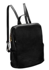 Plecak w stylu vintage czarny Badura T_D187CZ_CD. Kolor: czarny. Materiał: skóra. Styl: vintage