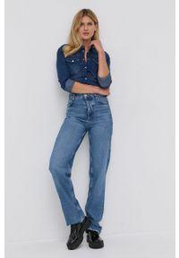 Liu Jo - Koszula jeansowa. Kolor: niebieski. Materiał: jeans. Długość rękawa: długi rękaw. Długość: długie