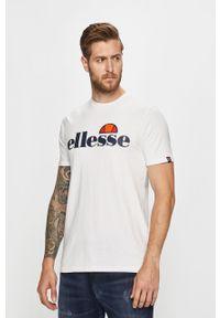 Biały t-shirt Ellesse casualowy, na co dzień