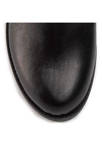 Czarne kozaki Maccioni z cholewką, z aplikacjami