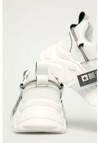 Białe buty sportowe Big-Star na sznurówki, z okrągłym noskiem