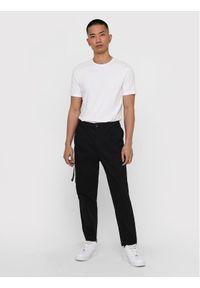 Only & Sons - ONLY & SONS Spodnie materiałowe Dew 22018645 Czarny Tapered Fit. Kolor: czarny. Materiał: materiał #5