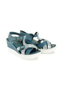 Niebieskie sandały Artiker Relaks na rzepy