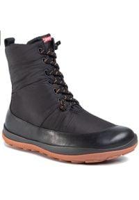 Czarne buty zimowe Camper na co dzień, z cholewką, casualowe
