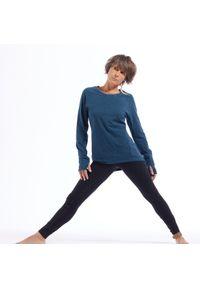 KIMJALY - Koszulka do łagodnej jogi długi rękaw Kimjaly. Kolekcja: moda ciążowa. Kolor: turkusowy, niebieski, wielokolorowy. Materiał: bawełna, jersey, materiał, elastan. Długość rękawa: długi rękaw. Długość: długie. Sport: joga i pilates
