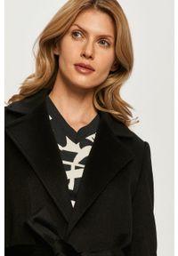 Czarny płaszcz MAX&Co. klasyczny, bez kaptura