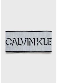 Calvin Klein Jeans - Opaska wełniana. Kolor: biały. Materiał: wełna