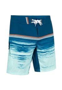 OLAIAN - Spodenki surfing standardowe BS 500S radical petrol. Kolor: turkusowy, niebieski, wielokolorowy. Materiał: poliester, materiał. Wzór: aplikacja. Styl: klasyczny