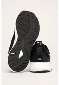 Czarne buty sportowe Puma z okrągłym noskiem, z cholewką