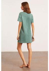 Zielona piżama Etam z nadrukiem, krótka