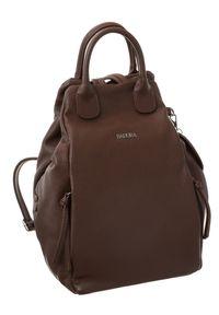 Plecak damski Badura T_D116BR_CD brązowy. Kolor: brązowy. Materiał: skóra