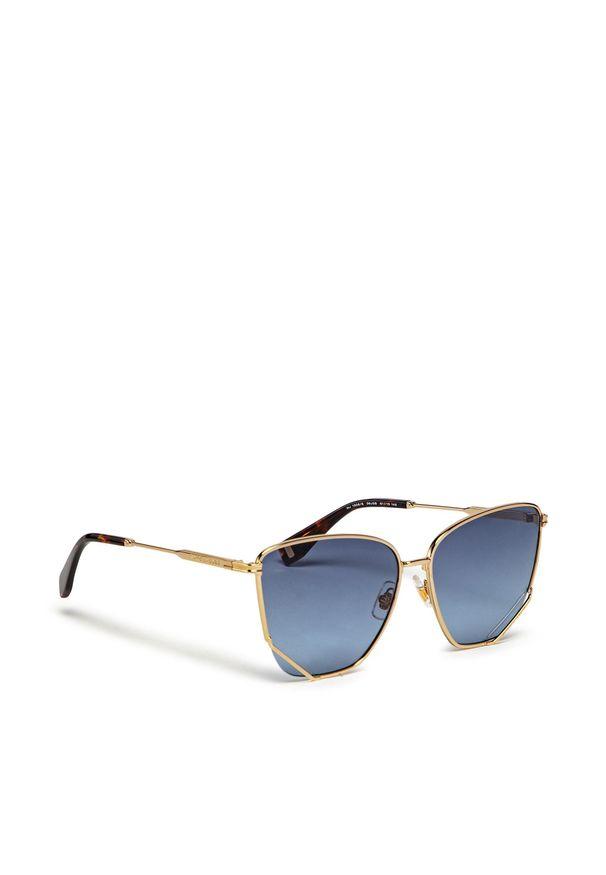 Okulary przeciwsłoneczne MARC JACOBS - MJ 1006/S Gold Havana 06J. Kolor: brązowy, wielokolorowy, szary, złoty