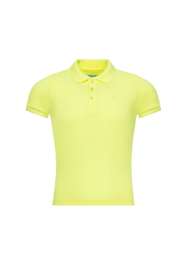 Żółty t-shirt polo Mayoral polo
