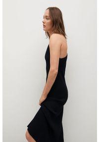 mango - Mango - Sukienka SUAU. Okazja: na co dzień. Kolor: czarny. Materiał: dzianina. Długość rękawa: na ramiączkach. Typ sukienki: proste. Styl: casual