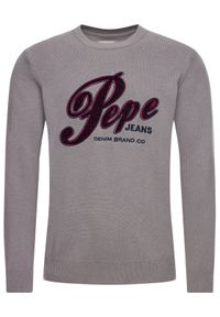Pepe Jeans Sweter Gabriel PM701973 Szary Regular Fit. Kolor: szary