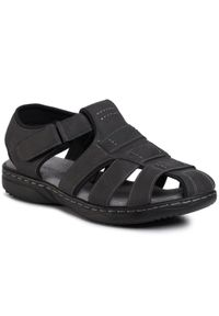 Szare sandały Lanetti na lato, klasyczne