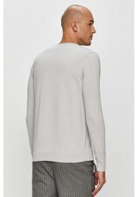 Szary sweter Karl Lagerfeld z długim rękawem, na co dzień, casualowy