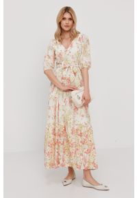 Wielokolorowa sukienka Lauren Ralph Lauren na co dzień, w kwiaty, maxi