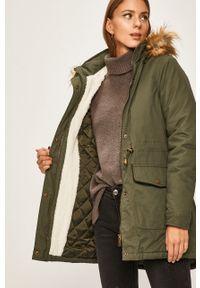 Zielona kurtka ANSWEAR casualowa, z kapturem, na co dzień