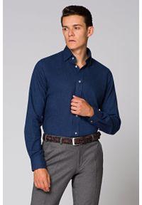 Niebieska koszula casual Lancerto na co dzień