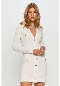 Biała sukienka Pinko z długim rękawem, mini