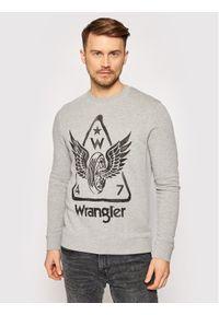 Wrangler Bluza Graphic Crew W6E2HAX37 Szary Regular Fit. Kolor: szary