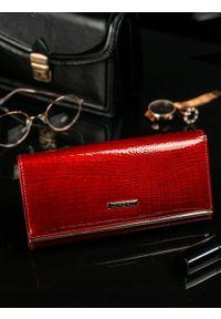 Czerwony portfel LORENTI gładki