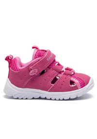 Różowe sandały KangaRoos rockowe, na lato