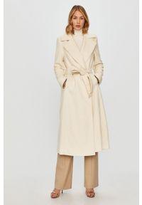 Biały płaszcz TwinSet na co dzień, bez kaptura