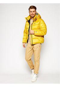 Champion Kurtka puchowa Reverse Weave 215058 Żółty Regular Fit. Kolor: żółty. Materiał: puch